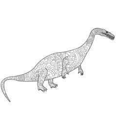 nothosauru dragon coloring for adults vector image
