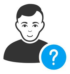user status icon vector image vector image