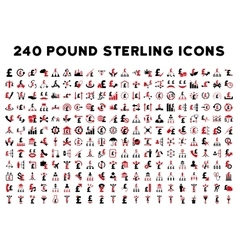 240 Flat Business Icons vector image
