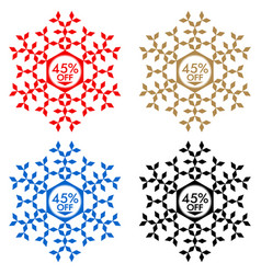 45 off discount sticker snowflake 45 off sale vector image