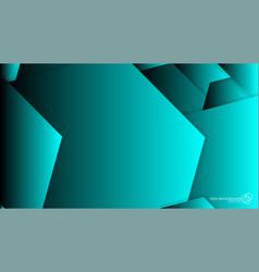 abstract background hexagon blue light and shadow vector image