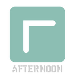 Afternoon conceptual graphic icon vector