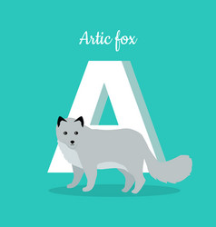 animals alphabet letter - a vector image
