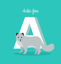 Animals alphabet letter vector