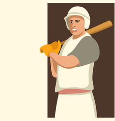 baseball player flat style vector image