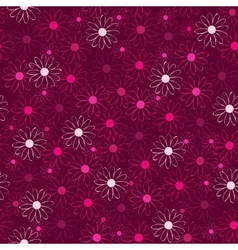 beautiful flower background in pink vector image
