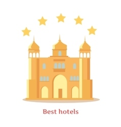 Best Five Stars Indian Hotels Concept vector image