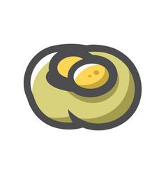 bird nest with eggs cartoon vector image