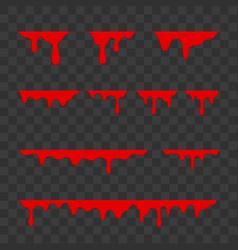 blood drops halloween decoration borders design vector image