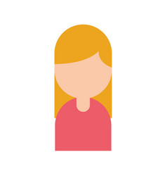 businesswoman avatar isolated icon vector image