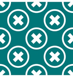 Cancel web icon flat design Seamless pattern vector
