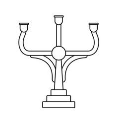 Candelabrum or candelabra candle holder line art vector