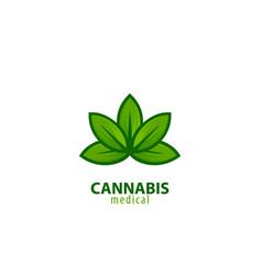 Cannabis medical logo vector