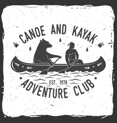 Canoe and kayak club vector