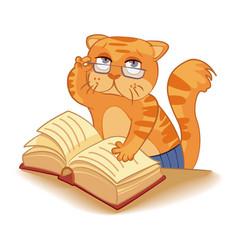 Cat - scientist vector