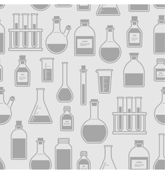 Chemical glassware seamless pattern vector