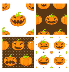 collection seamless halloween backgrounds vector image