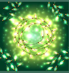 colorful glowing christmas lights vector image