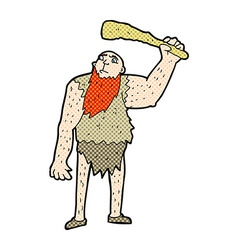 comic cartoon neanderthal vector image