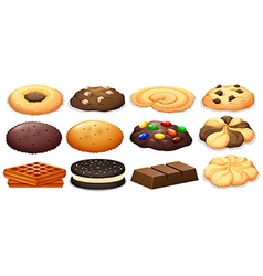 Cookies and chocolate bar vector image