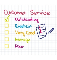 Customer service Ranking vector