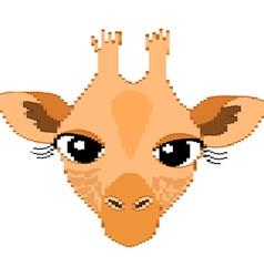 Cute Giraffe Portrait of Small Rectangles vector image