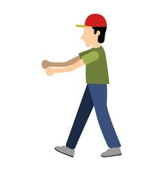 delivery boy icon vector image