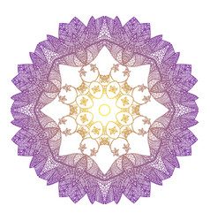 eight-pointed mandala in the style zentangl vector image