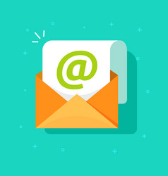 email icon symbol flat cartoon open vector image