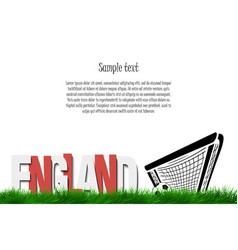england and a soccer ball at the gate vector image