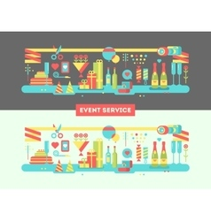 Event service design flat vector