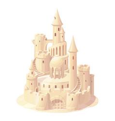 fantasy castle sand sandcastle vector image