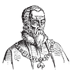 Ferdinand alvarez de toledo duke of alva vintage vector