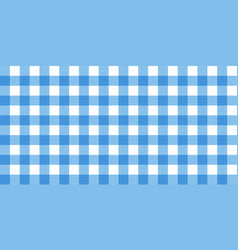 Gingham striped checkered blanket tablecloth vector