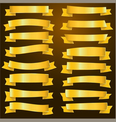 gold ribbon and gold banner vector image vector image