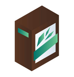 green tea box icon isometric style vector image
