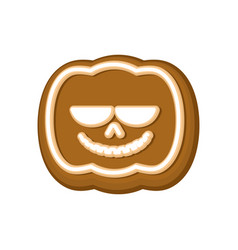 halloween cookie pumpkin cookies for terrible vector image