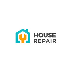 house repair logo home renovation project emblem vector image