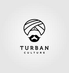 Indian turban logo design vector