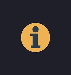Information computer symbol vector image
