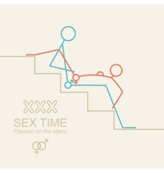 Kamasutra man and woman sex xxx vector image