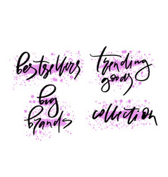 Lettering or calligraphy vector