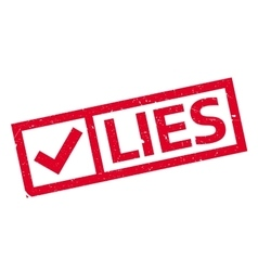 Lies rubber stamp vector