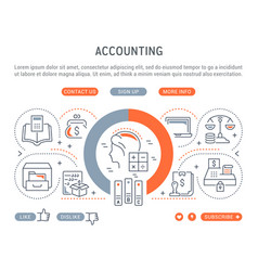 linear banner accounting vector image