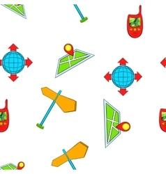 Location pattern cartoon style vector image