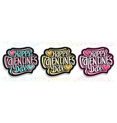 logos for st valentines day vector image