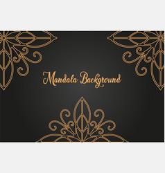 luxury mandala background concept vector image