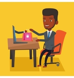 Man shopping online vector