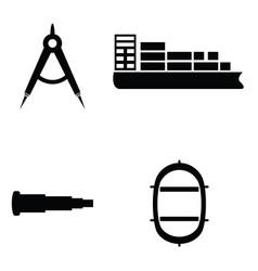 Marine and nautical icon vector