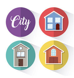 modern houses design vector image